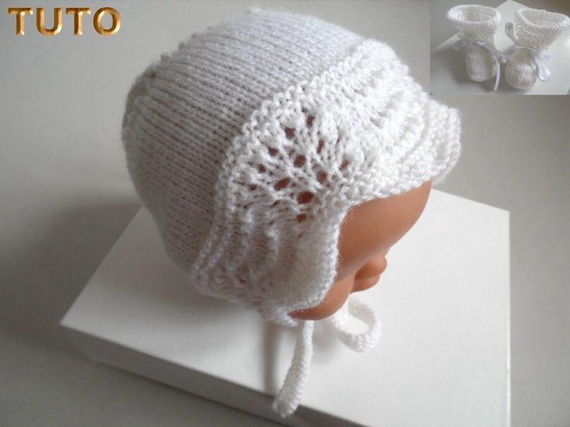 Explications tricot bébé, TUTORIEL, bonnet béguin laine 5cb40ed756a