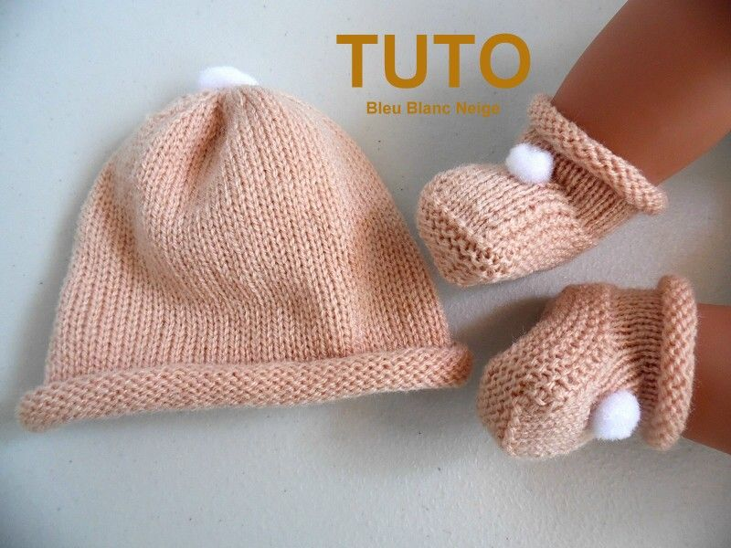 explications tuto chaussons b b tricot. Black Bedroom Furniture Sets. Home Design Ideas